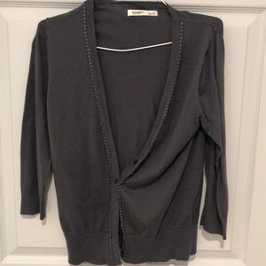 Cute grey with shimmer touch cardigan